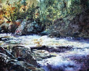 aquarelle sur toile 14 X 18